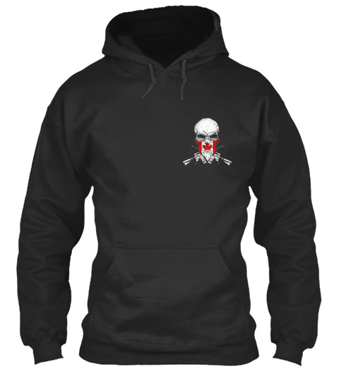 Shooting Terrorists Jet Black Sweatshirt Front