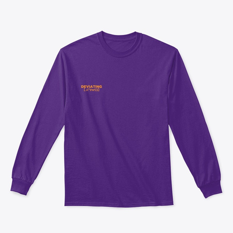 Deviating Daily  Tee Purple T-Shirt Front