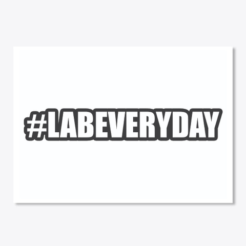 Lab Everyday Sticker White T-Shirt Front