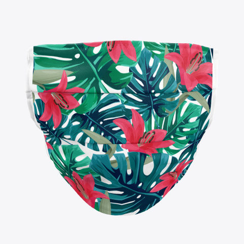 Monstera And Lily Face Mask Standard T-Shirt Front