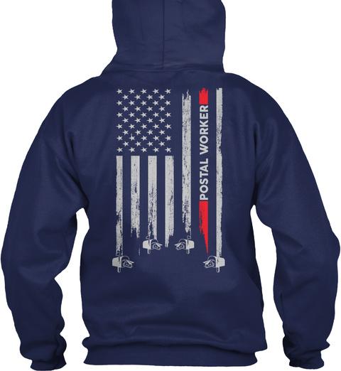 Proud Postal Worker Navy T-Shirt Back