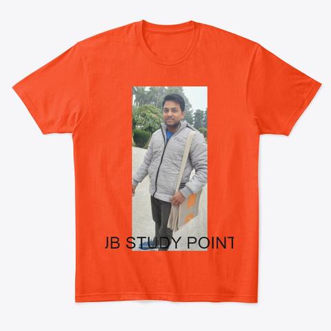 Jb Syudy Point Deep Orange  T-Shirt Front