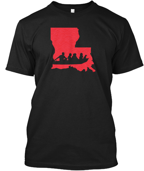 Ragin' Cajuns For La Black T-Shirt Front