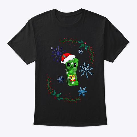 Santa Creeper Black T-Shirt Front