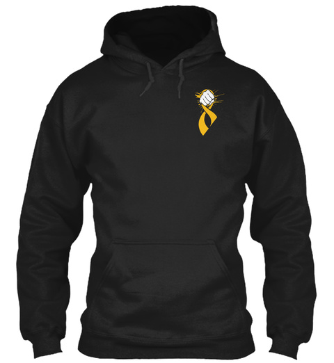 """Donate"" For Childhood Cancer Awareness Black T-Shirt Front"