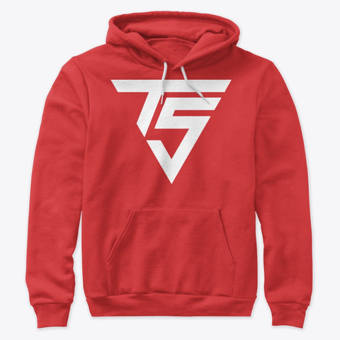 Red / White Premium Pullover Hoodie Red T-Shirt Front