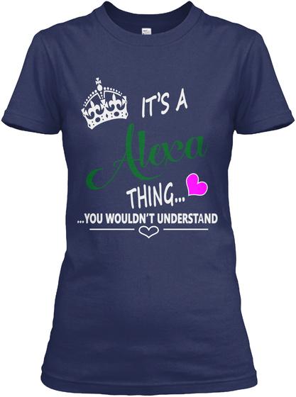 Alexa Navy T-Shirt Front