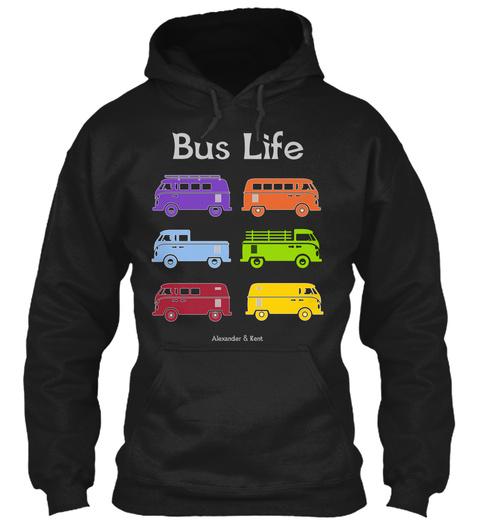 Bus Life Alexander & Kent  Black T-Shirt Front