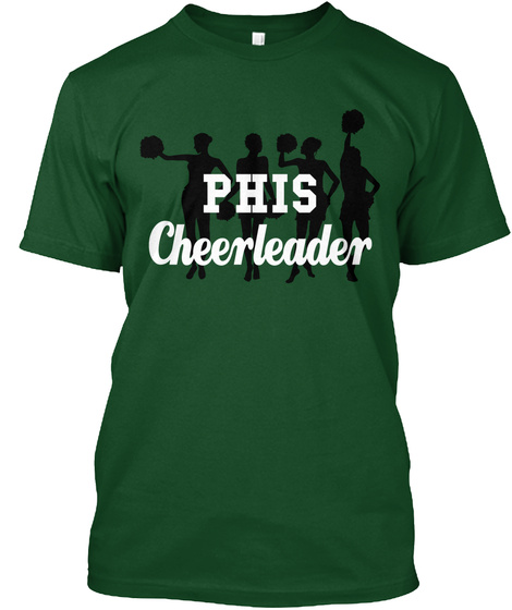 Phis Cheerleader Deep Forest T-Shirt Front