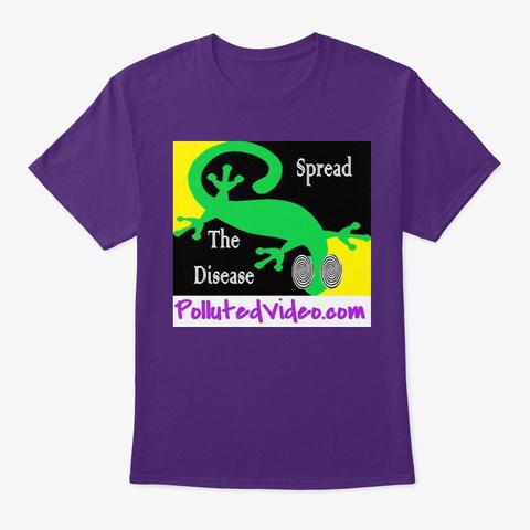 Spread The Disease Purple áo T-Shirt Front