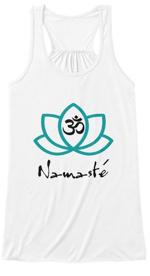 / Namaste White T-Shirt Front