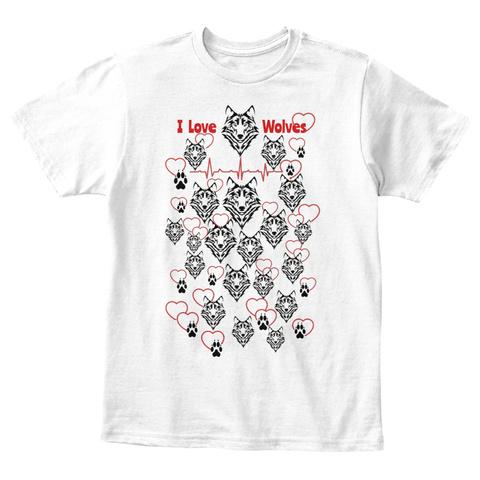 Wolf Love Kids Tee White T-Shirt Front