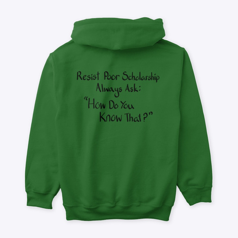 How Do You Know That? Irish Green T-Shirt Back
