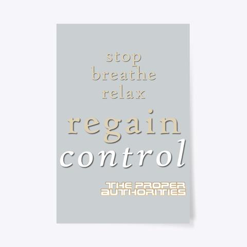 Regain Control: Stop, Breathe, Relax Light Grey T-Shirt Front