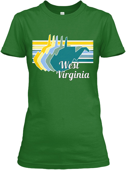 West Virginia Irish Green Women's T-Shirt Front