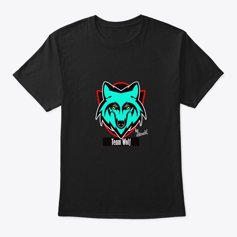 Oficial Merch Team Wolf Black T-Shirt Front