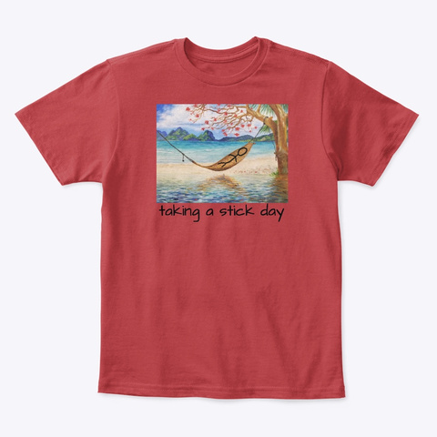 Taking A Stick Day Classic Red T-Shirt Front