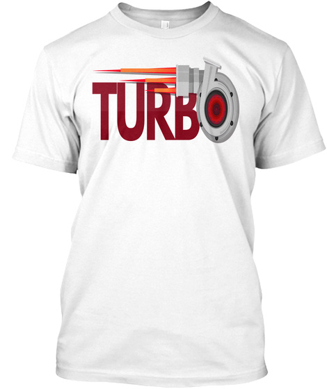 Turbo White T-Shirt Front