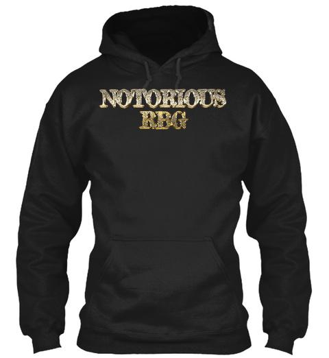 Ruth Bader Ginsburg, Notorious Rbg Gold  Black T-Shirt Front