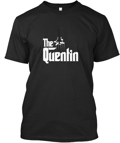 The Quentin Black T-Shirt Front