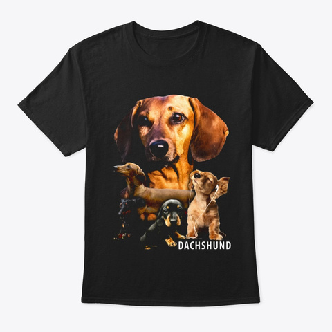 Dachshund Awesome T111 Black T-Shirt Front