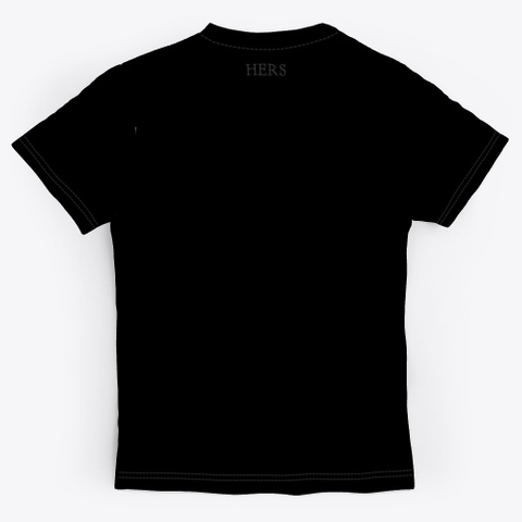 Abstract Art Print Design Black T-Shirt Back