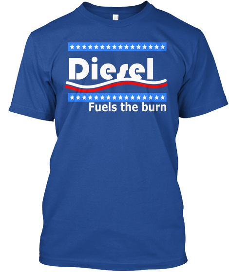 Diesel Fuels The Burn Deep Royal T-Shirt Front