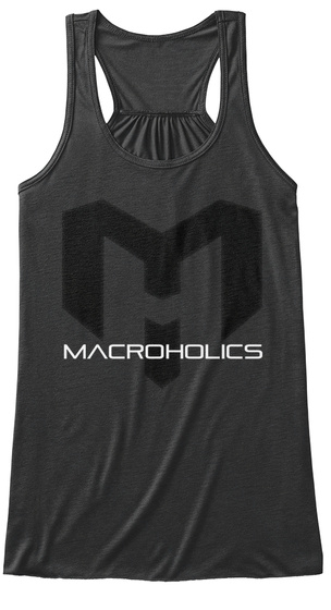 Macroholics Dark Grey Heather T-Shirt Front