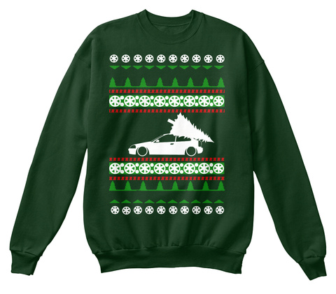 Civic Ugly Christmas Sweater Ek Hatch Deep Forest  Sweatshirt Front