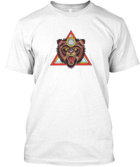 The Dice Bear T White T-Shirt Front