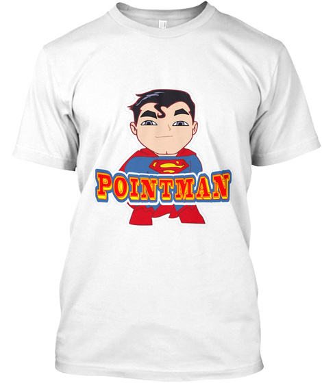 Pointman White T-Shirt Front