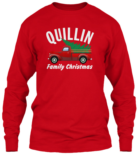 Quillin Family Christmas Red T-Shirt Front