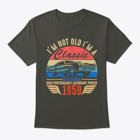 Classic 1959 T Shirt For Men Women Smoke Gray T-Shirt Front