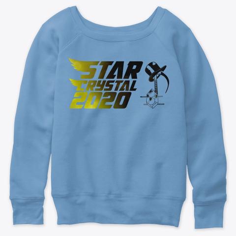 Star Crystal 2020 Blue Triblend  T-Shirt Front