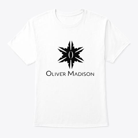 Oliver Madison Shirts (Black) White T-Shirt Front