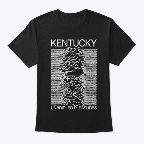 Kentucky Unbridled Pleasures Black T-Shirt Front