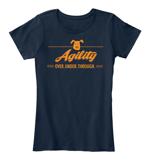 Agility Over Under Through New Navy T-Shirt Front