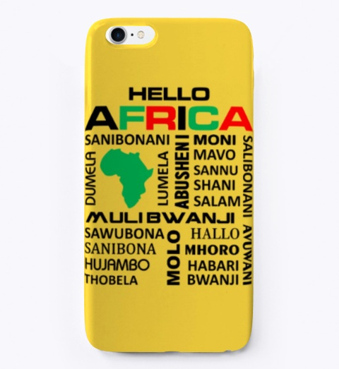 Hello Africa Yellow T-Shirt Front