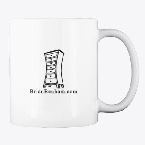 Support Handmade White Mug Back