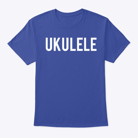Ukulele  Deep Royal T-Shirt Front