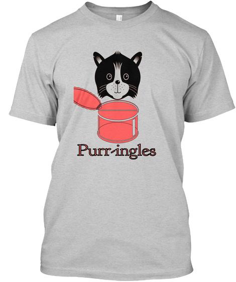 Purr Ingles Light Steel T-Shirt Front