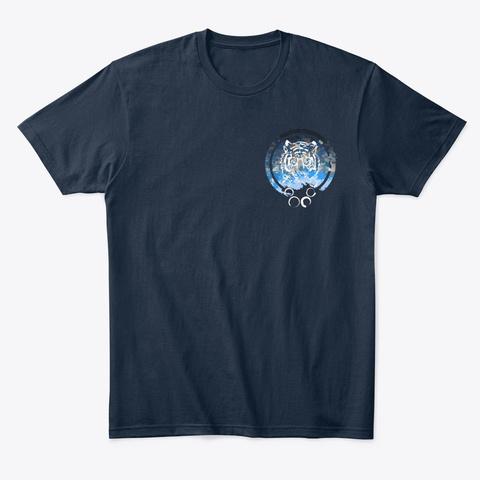 Tiger Emblem  New Navy T-Shirt Front