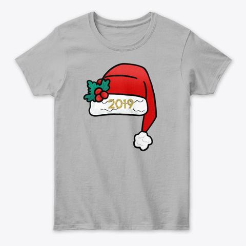 Santa Hat 2019  Sport Grey T-Shirt Front