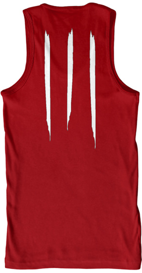 Promotion Premium Tank Red T-Shirt Back