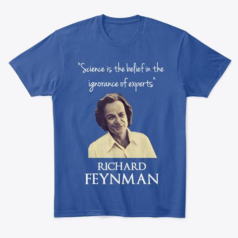 Feynman Deep Royal T-Shirt Front