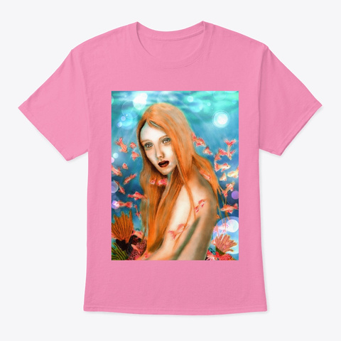 Mermaid Under The Sea Pink T-Shirt Front
