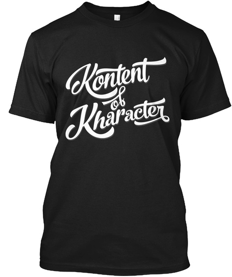 Kontent Of Kharacter  Black T-Shirt Front