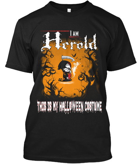 Herold Halloween Costume Black T-Shirt Front