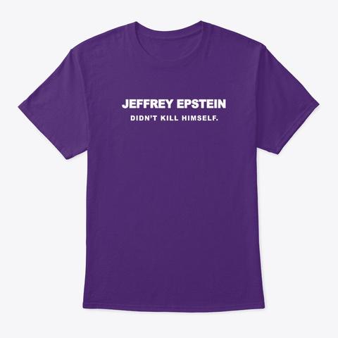 Didn't Kill Himself (White Short) Purple T-Shirt Front