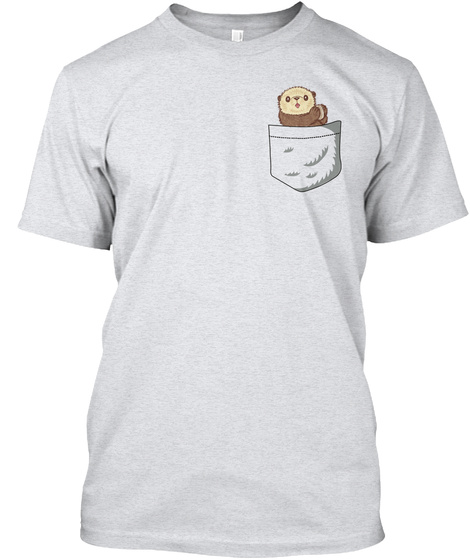 Otter Pocket Ash T-Shirt Front